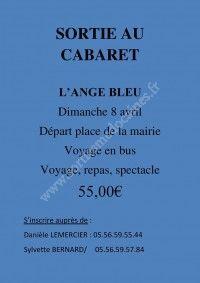 Sortie au Cabaret l'Ange Bleu