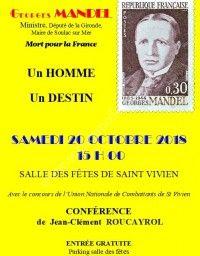 Conférence sur Georges MANDEL