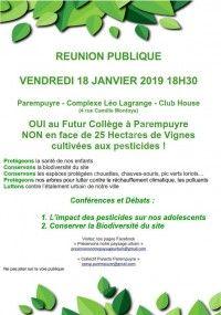 Conférences & Débat - Pesticides, Collège et Biodiversité