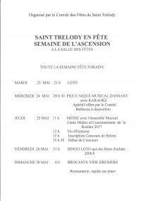 Saint Trélody en Fêtes de l'Ascension 2017