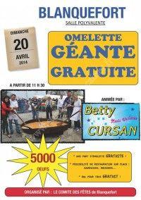 Omelette Géante Gratuite