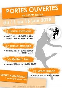 Portes Ouvertes de l'ASPM Danse