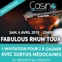 Casino de Lacanau : Gagne ton entrée au Fabulous Rhum Tour avec Sorties Médocaines