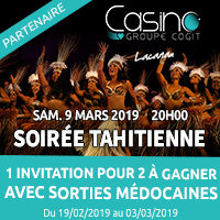 Casino de Lacanau : Gagne ta soirée tahitienne avec Sorties Médocaines
