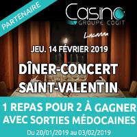 Casino de Lacanau : Gagne ta soirée en amoureux pour la Saint Valentin avec Sorties Médocaines