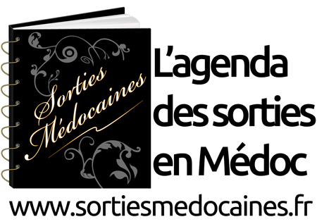 Logo Sorties Médocaines - Logo Blanc